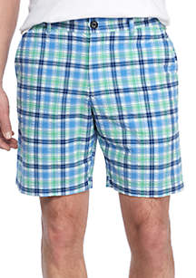 Chaser Check Flat Front Shorts