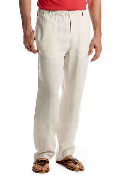 Tommy Bahama® Loose Fit New Linen On The Beach Flat Front Pants ...