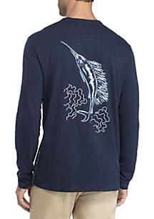 Long Sleeve Shibori Marlin Lux Tee