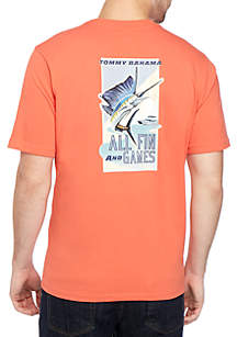Tommy Bahama® All Fin and Games Graphic T Shirt