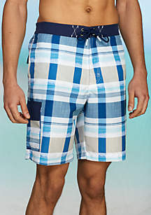 Baja Pomona Plaid Swim Shorts