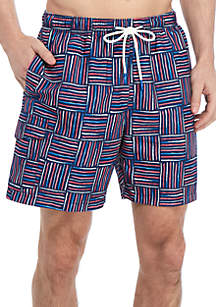 21bbf179f3 ... Tommy Bahama® Naples Lei Como Check 6 in Swim Trunks
