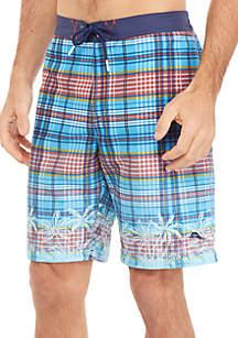 Tommy Bahama® Baja Palmetto Grove Plaid Board Shorts