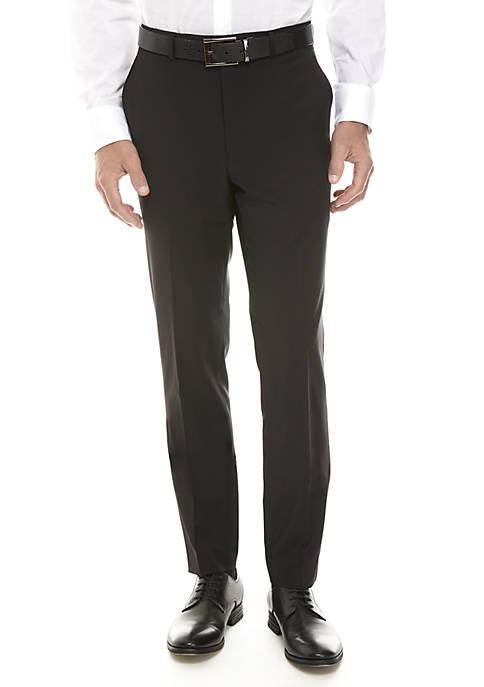 Calvin Klein Solid Black Suit Separate Pants