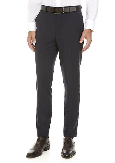 Calvin Klein Solid Navy Suit Separate Pants