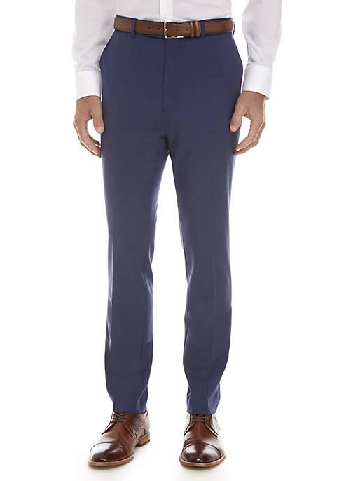Calvin Klein Solid Blue Suit Separate Pants