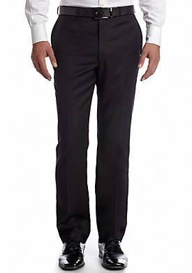 Slim Fit Flat Front Suit Separate Pants