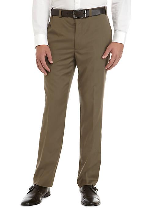 Wool Stretch Flat Front Pants
