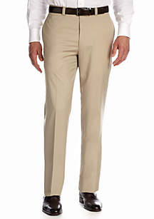 Flat Front Solid Pants