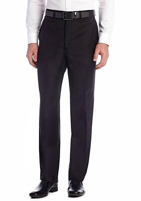 Calvin Klein Black Wool Stretch Pants
