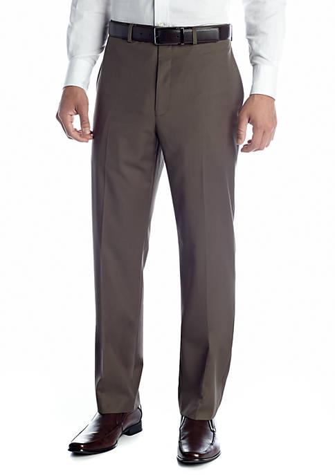 Flat Front Wrinkle Resistant Pants