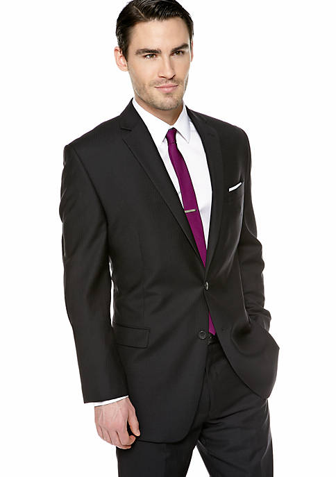 Calvin Klein Slim Fit Stripe Suit Separate Coat