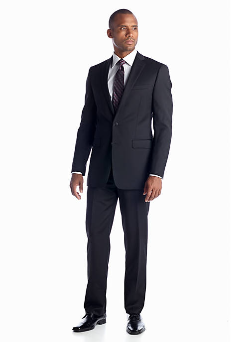 Calvin Klein Slim Fit Black Solid Suit