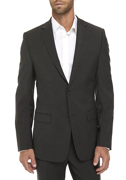Calvin Klein Charcoal Plain Suit Separate Coat