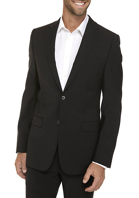 Calvin Klein Black Plain Suit Separate Coat