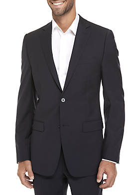 Navy Plain Suit Coat