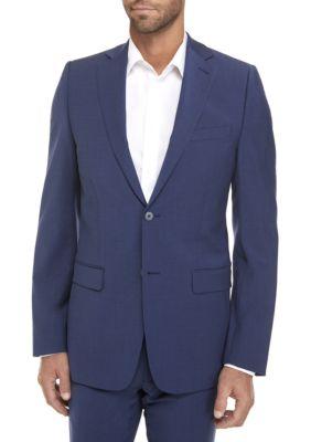 Calvin Klein Mens Blue Plain Suit Separate Coat