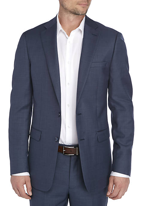 Calvin Klein Blue Plain Suit Coat