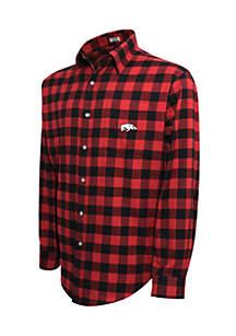 Arkansas Razorbacks Long Sleeve Flannel Buffalo Check Woven Shirt