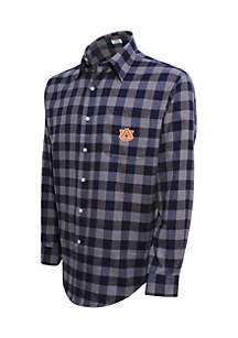 Auburn Tigers Long Sleeve Flannel Buffalo Check Woven Shirt