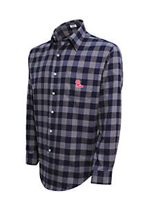 Ole Miss Rebels Long Sleeve Flannel Buffalo Check Woven Shirt