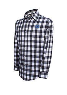 UNC Long Sleeve Plaid Flannel Shirt