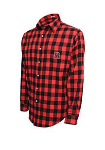NC State Plaid Flannel Shirt