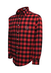 South Carolina Gamecocks Long Sleeve Flannel Buffalo Check Woven Shirt