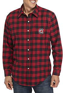 Campus Specialties South Carolina Gamecocks Long Sleeve Flannel Buffalo Check Woven Shirt
