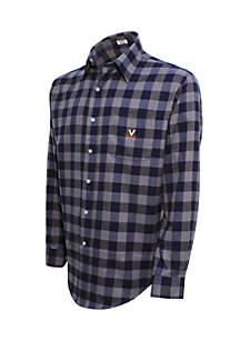 Virginia Cavaliers Long Sleeve Flannel Buffalo Check Woven Shirt