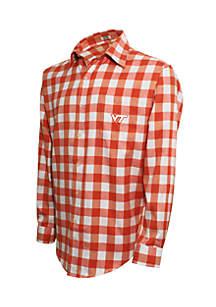 Virginia Tech Hokies Long Sleeve Flannel Buffalo Check Woven Shirt