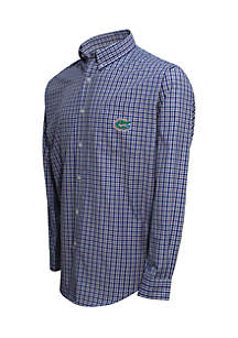 Florida Gators Long Sleeve 3-Color Gingham Check Woven Shirt