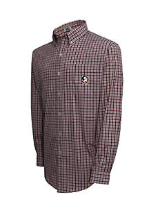 Florida State Seminoles Long Sleeve 3-Color Gingham Check Woven Shirt