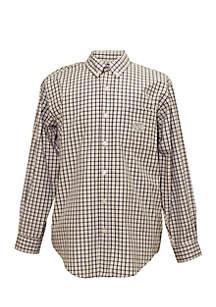 UNC Tar Heels Tri-Color Check Woven Shirt