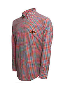 Oklahoma State Two Color Gingham Shirt