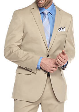 Slim-Fit Tan Stretch Suit Separate Coat