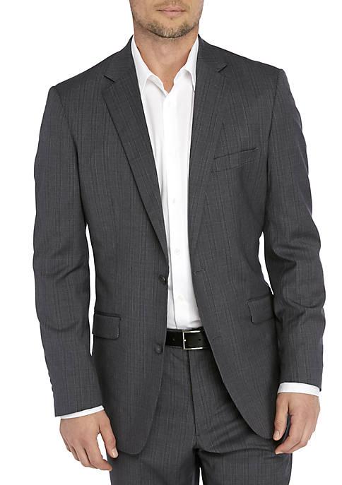 Madison Light Gray Plaid Coat