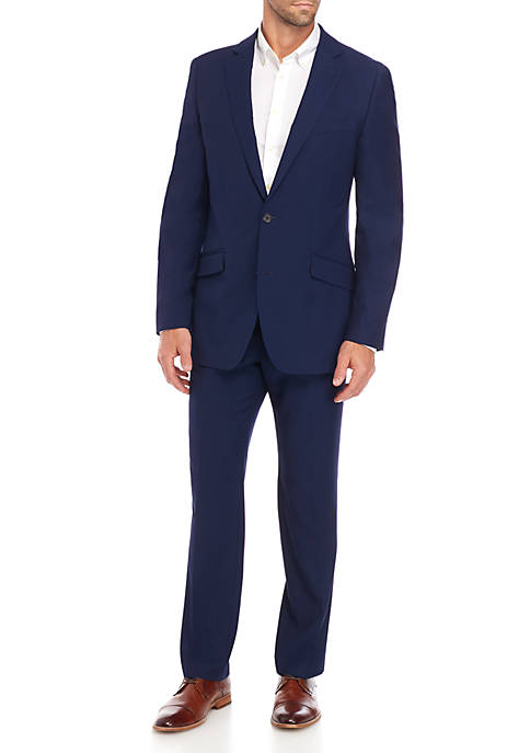Madison Blue Textured Solid Suit Separate jacket