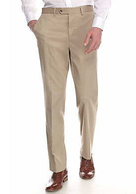 Slim-Fit Tan Stretch Suit Separate  Pant
