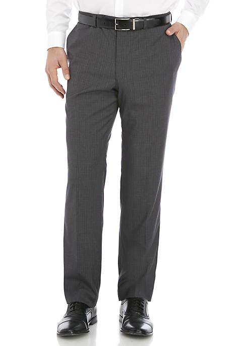 Madison Light Gray Plaid Pants