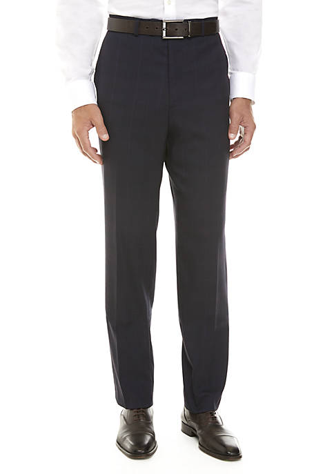 Madison Navy Plaid Pants