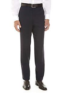 Navy Plaid Pants