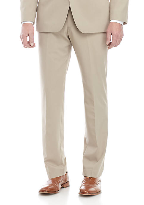 Madison Tan Suit Pants with Motion Stretch
