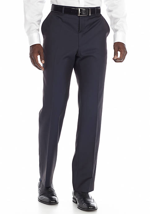 Madison Slim-Fit Flat Front Tuxedo Pants