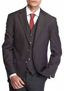 Solid Modern-Fit Suit Separate Jacket