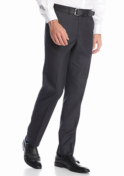 Solid Modern-Fit Suit Separate Pants