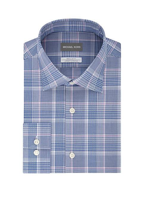 MICHAEL Michael Kors Non Iron Check Print Dress