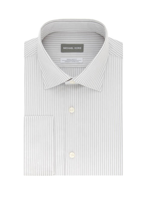 Michael Kors Stay Clean Stretch Regular Fit Striped