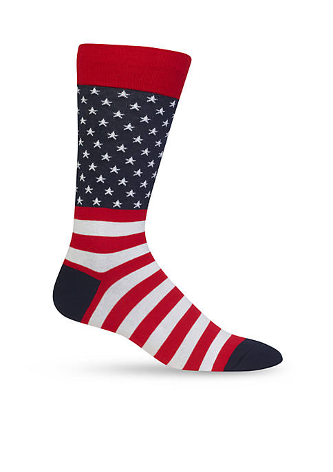 Hot Sox® Flag Crew Socks