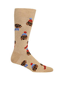 Men's Dressed Dogs Crew Socks
